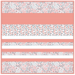 "Minky Kashmir Coral -Strip Quilt /58x58"""