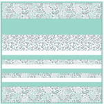 Minky Kashmir Mint -Strip Quilt /58x58""