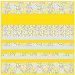 Kashmir Yellow-MINKY Strip Quilt /58x58""