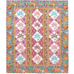 "Kashmir Blooms Quilt by Marsha Moore /53.5""x63.5"" - Instructions Coming Soon"