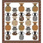 "Pottery Maker Quilt by Natalie Crabtree 65""x72"" - free pattern available in August, 2021"