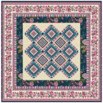 """Provencial La Fleur Tiles Fuzzy Cut Border Taupe Quilt by Diane Nagle /48""""x48"""" - Instructions coming soon"""
