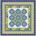 "Provencial La Fleur Tiles Blue Quilt by Diane Nagle /48""x48"" - Instructions Coming soon"