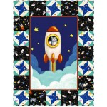 "Lift Off Quilt by Susan Emory /32""x42"" - Pattern Available in October"