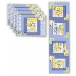 Limoncello Placemats & Runner by Poorhouse Quilt Designs - Pattern will be available in April