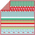 "Llama Navidad - MINKY Strip Quilt /58""x58"""