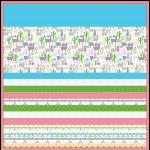 "Minky Llamas -Strip Quilt /58x58"""