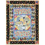 "Lots of Dishes Quilt /42""x56"" by Marinda Stewart"
