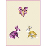 "Love Hoppington - Orchid by Violet Craft   /36""x48"""