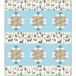 "Lovely Llamas Minky Quilt by Heidi Pridemore /69""x78"""