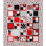 "Four Patch Quilt by Swirly Girls Design /62""x72"" (fat Quarter Friendly)"