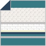 Luna Owls - Gray - Minky Strip Quilt /58x58""