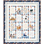 Meow About Town Quilt by Wendy Sheppard /43-1/2x54-1/2""