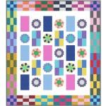 "Flower Power Quilt by natalie Crabtree /57""x64"""