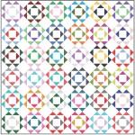 "Mod Flowers Quilt by heidi Pridemore /54""x54"""