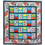 "Monsters in the Closet Quilt by Heidi Pridemore /54""x61"""