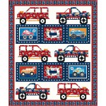 """Truck Rally - Monster Trucks Quilt by Coach House Designs 67""""x80"""""""