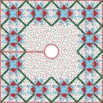 """Over Under Again Tree Skirt - most wonderful time of the year quilt by Swirly Girls Design 48""""x48"""""""
