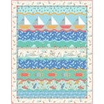 "On the Waves Quilt by Marsha Evans Moore 50""x68"""