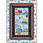 "Panel Frames Quilt by Swirly Girls / 44""x62"""