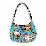 """Going Places Hobo Bag - Paul Frank by Poorhouse Quilt Designs 11""""x15""""x4"""" w/ 12"""" strap"""