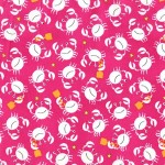 PRINTED COTTON COUTURE   COLOR: RASPBERRY
