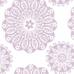PRINTED COTTON COUTURE  COLOR: VIOLET