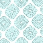 PRINTED COTTON COUTURE   COLOR: AQUA