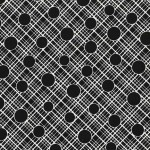 PRINTED COTTON COUTURE  COLOR: BLACK