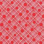 PRINTED COTTON COUTURE  COLOR: RED