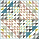 "rotations quilt by natalie crabtree 72""x72""-pattern available in june, 2021"