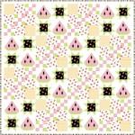 """summer watermelon quilt by natalie crabtree 75""""x75"""""""
