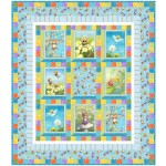 """Playful Pixies Quilt by Wendy Sheppard /51-1/2""""x56-1/2"""""""