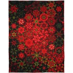 "Poinsettia Millefiori Quilt by Marinda Stewart  /44""x59"" - Instructions Coming Soon"