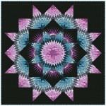 """Mardi Gras Quilt by Christine Stainbrook /96""""x96"""""""