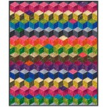 "Tumbling Blocks Quilt by Marsha Evans Moore /45-3/4x53-3/4"" - instructions coming soon"