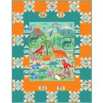 "panel pizzazz quilt by swirly girls design 56""x72"""