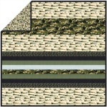 Rat Race Olive - Minky Strip Quilt /58x58""
