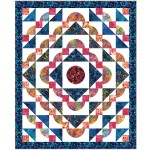 "Rippling Waves Quilt by Heidi Pridemore /54""x66"""