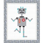 "Robbie Robot Quilt by Susan Emory /62""x74"""