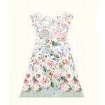 Daisy Dress Rosy by The Fabric Addict