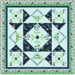 "Sing Sweet Nightingale Quilt by Natalie Crabtree /63""x63"""