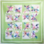 "Skylight Quilt by Sandra Clemons / 58x58"""