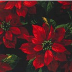 SCARLET POINSETTIA on MINKY - Contact your account manager to purchase this item