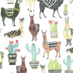 LOVELY LLAMAS on MINKY - Contact your account manager to purchase this item