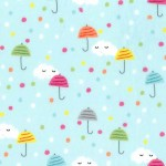 HAPPY CLOUDS on MINKY- Contact your account manager to purchase this item