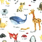 ANIMAL ALPHABET on MINKY- Contact your account manager to purchase this item