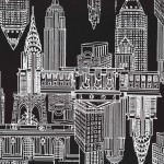 MANHATTAN SKYLINE on MINKY - Contact your account manager to purchase this item