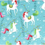 UNICORN HOLIDAY ON MINKY  - Contact your account manager to purchase this item