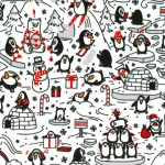 PENGUIN PARTY ON MINKY  - Contact your account manager to purchase this item
